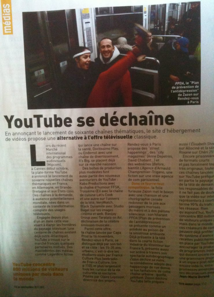 Les Inrock - YOUTUBE Articles de Presse : ZAZON - https://zazon.fr