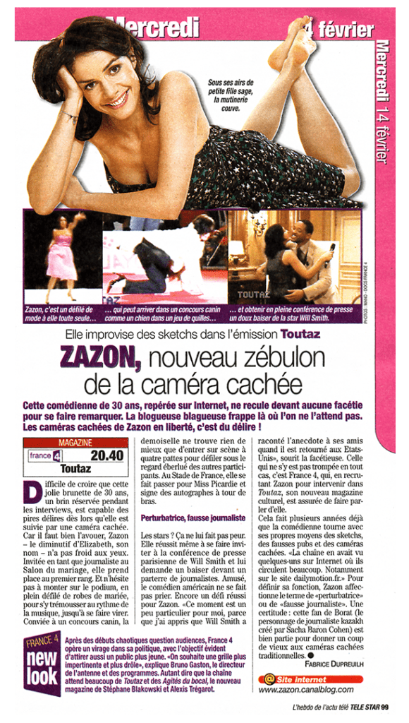 Articles de Presse : ZAZON - https://zazon.fr