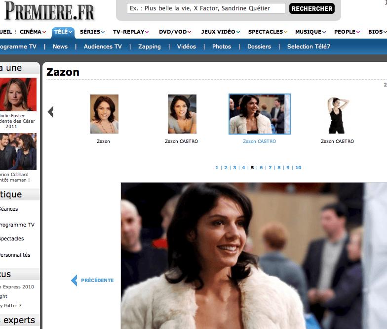 Première - Articles de Presse : ZAZON - https://zazon.fr
